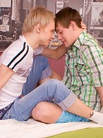 Sexy blond gay boy Kenny and his athletic friend